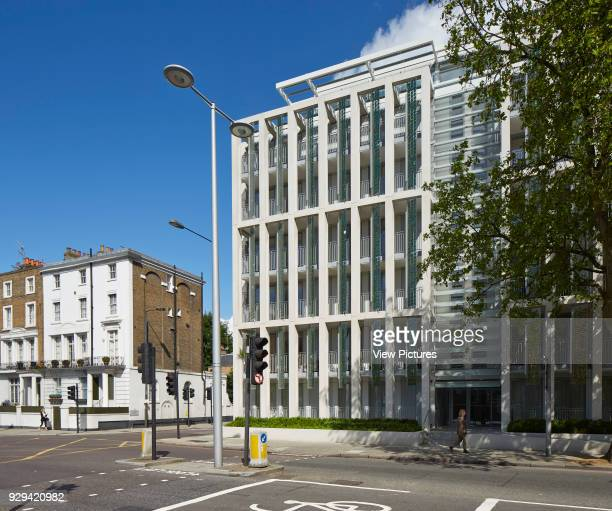Kingsgate House London United Kingdom Architect Horden Cherry Lee Architects Ltd 2014 Contextual street view at intersection