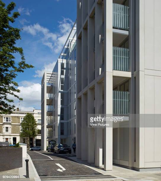 Kingsgate House London United Kingdom Architect Horden Cherry Lee Architects Ltd 2014 Rear end of building with car access