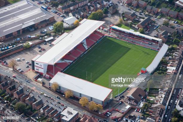 Kingsholm Stadium Gloucester Gloucestershire 2010 First built in 1891 Kingsholm has been home for Gloucester Rugby Union club ever since