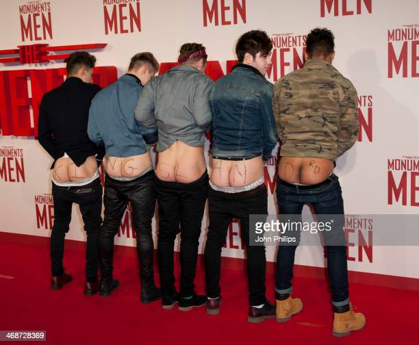 """Kingsland Road attend a photocall for """"The Monuments Men"""" at The National Gallery on February 11, 2014 in London, England."""