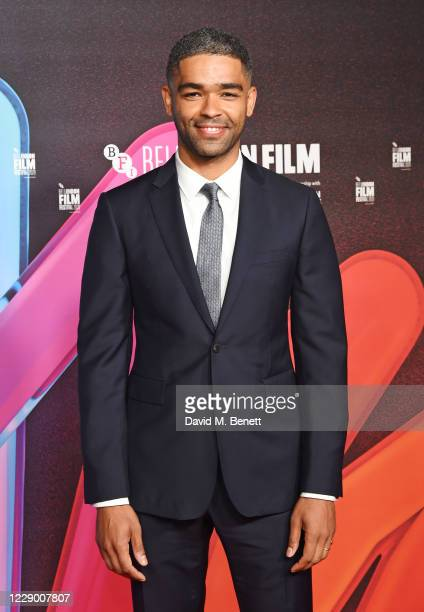 """Kingsley Ben-Adir attends the """"One Night in Miami"""" Premiere during the 64th BFI London Film Festival at BFI Southbank on October 11, 2020 in London,..."""