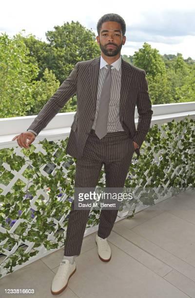 Kingsley Ben-Adir, wearing Ralph Lauren, attends the Polo Ralph Lauren & British Vogue day during Wimbledon at All England Lawn Tennis and Croquet...