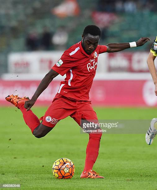 Kingsley Boateng of AS Bari in action during a tornemnt between FC Internazionale AC Milan and AS Bari at Stadio San Nicola on November 24 2015 in...