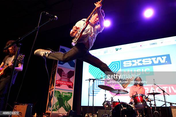 Kingsley Brock, Jonas Stein and Matt Hearn of Turbo Fruits perform onstage at the Radio Day Stage during the 2015 SXSW Music, Film + Interactive...