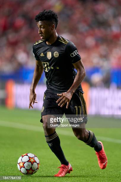 Kingsley Coman of Bayern München in action during the UEFA Champions League group E match between SL Benfica and Bayern München at Estadio da Luz on...