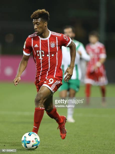 Kingsley Coman of Bayern Munich in action during a friendly match between FC Bayern Munich and AlAhly at Aspire Academy on January 06 2018 in Doha...