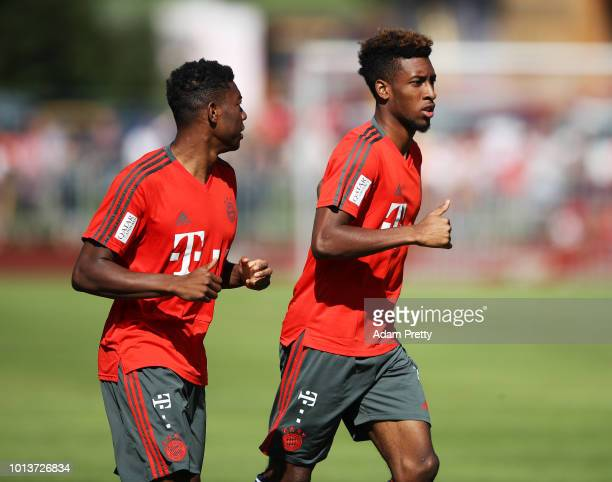 Kingsley Coman of Bayern Munich in action during FC Bayern Muenchen pre season training on August 9, 2018 in Rottach-Egern, Germany.