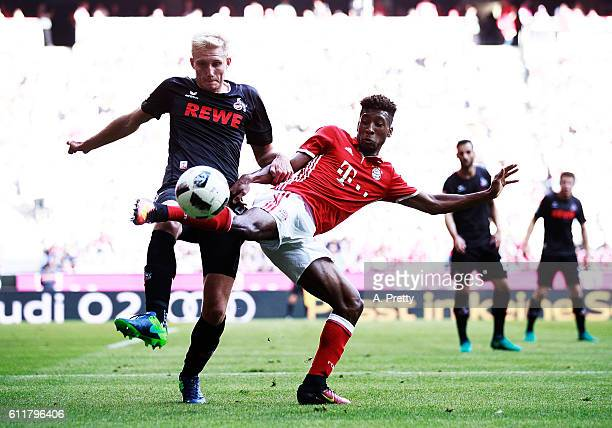 Kingsley Coman of Bayern Munich in action during the Bundesliga match between Bayern Muenchen and 1 FC Koeln at Allianz Arena on October 1 2016 in...