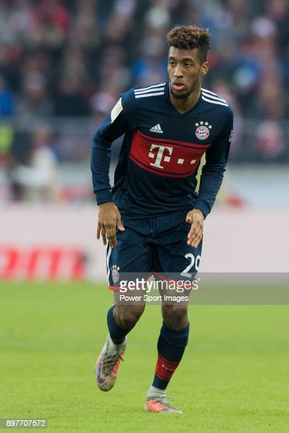 Kingsley Coman of FC Bayern Muenchen in action during the Bundesliga match between VfB Stuttgart and FC Bayern Muenchen at the MercedesBenz Arena on...
