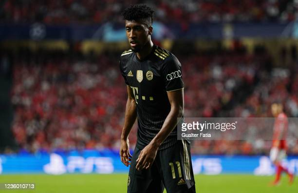 Kingsley Coman of FC Bayern Munchen during the Group E - UEFA Champions League match between SL Benfica and Bayern Munchen at Estadio da Luz on...