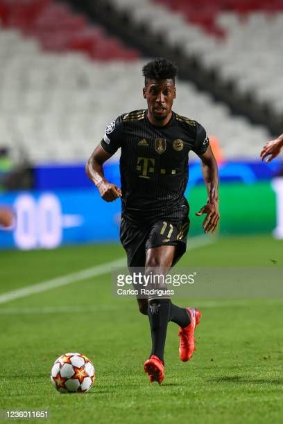 Kingsley Coman of FC Bayern Munchen during the UEFA Champions League group E match between SL Benfica and Bayern Muenchen at Estadio da Luz on...