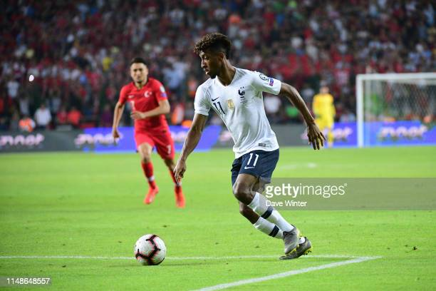Kingsley Coman of France during the Euro 2020 qualifying match between Turkey and France on June 8 2019 in Konya Turkey