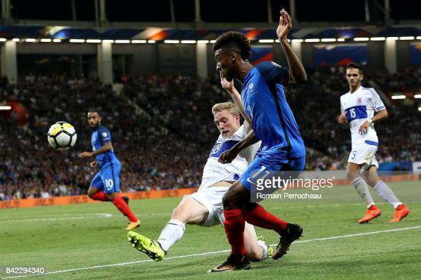 Kingsley Coman of France in action during the FIFA 2018 World Cup Qualifier between France and Luxembourg at on September 3 2017 in Toulouse France
