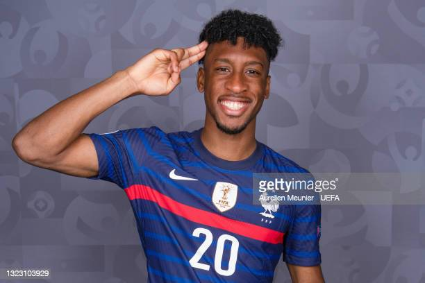 Kingsley Coman of France poses during the official UEFA Euro 2020 media access day on June 10, 2021 in Rambouillet, France.