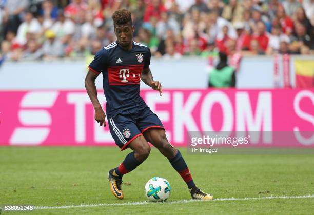 Kingsley Coman of Muenchen controls the ball during the Telekom Cup 2017 match between Bayern Muenchen and 1899 Hoffenheim at on July 15 2017 in...