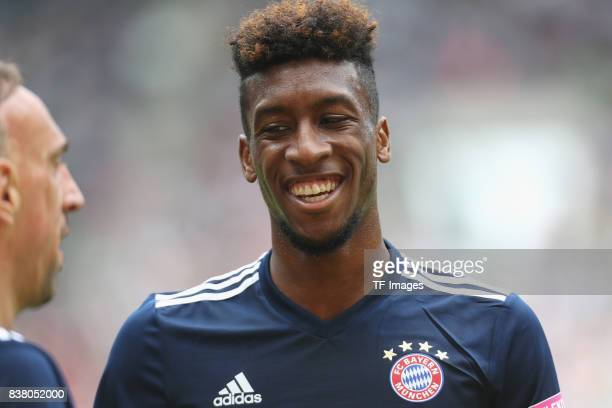 Kingsley Coman of Muenchen looks on during the Telekom Cup 2017 match between Bayern Muenchen and 1899 Hoffenheim at on July 15 2017 in...