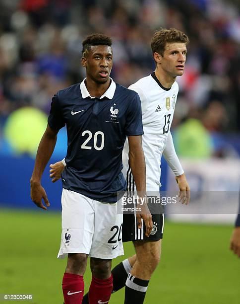 Kingsley Coman , Thomas Müller Fussball Freundschaftsspiel : Frankreich - Deutschland Football friendly match national team France Germany