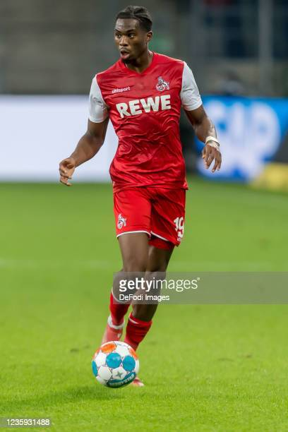 Kingsley Ehizibue of 1.FC Koeln controls the Ball during the Bundesliga match between TSG Hoffenheim and 1. FC Köln at PreZero-Arena on October 15,...