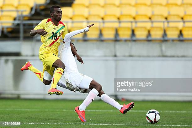 Kingsley Fobi of Ghana loses his footing while competing for the ball with Dieudonne Gbakle of Mali compete for the ball during the FIFA U20 World...