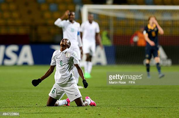Kingsley Michael of Nigeria reacts during the FIFA U17 Men's World Cup 2015 round of 16 match between Nigeria and Australia at Estadio Sausalito on...