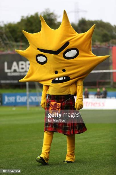 Kingsley the Partick Thistle mascot is seen during the Betfred Scottish League Cup round of sixteen match between Partick Thistle and Celtic at...