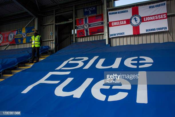 Kingsmeadow pictured during the 2020-21 FA Womens Cup fixture between Chelsea FC and London City at Kingsmeadow on April 16, 2021 in Kingston upon...