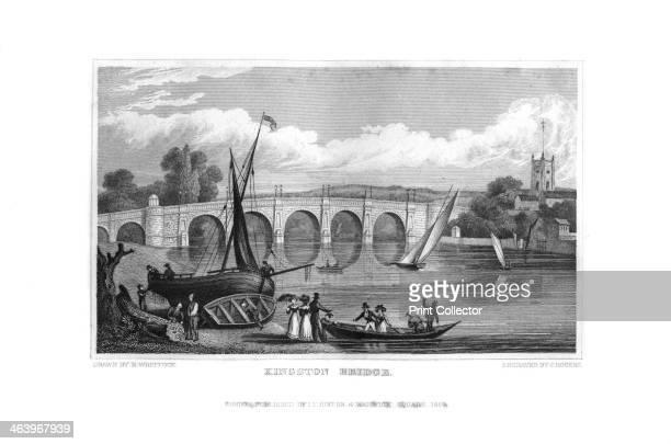 Kingston Bridge London 1829 The first masonry bridge over the Thames at Kingston was built in 1828