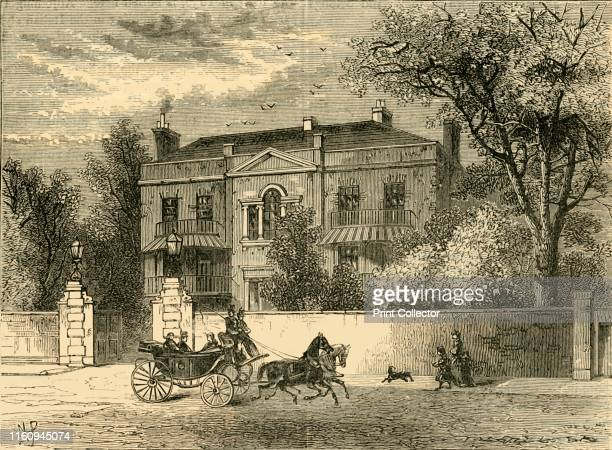Kingston House, Knightsbridge', circa 1876. Kingston House, a Palladian mansion built on the site of the demolished townhouse of Evelyn Pierrepont,...