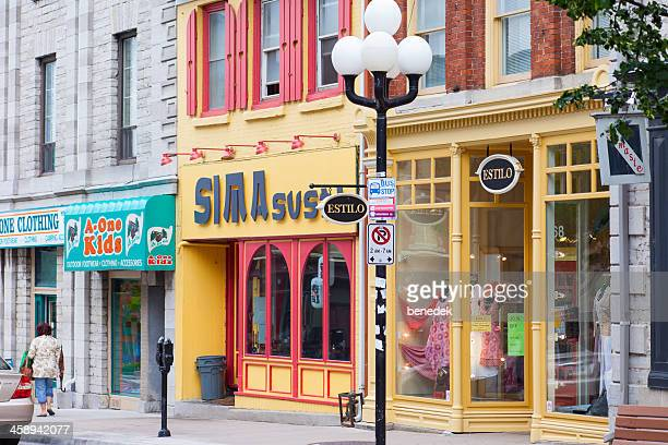 kingston, ontario, princess street - kingston ontario stock photos and pictures