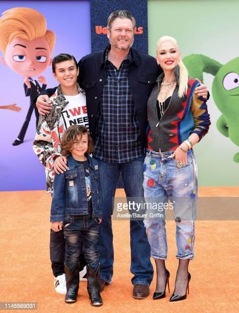 "Kingston Rossdale, Apollo Bowie Flynn Rossdale, Blake Shelton, and Gwen Stefani attend STX Films World Premiere of ""UglyDolls"" at Regal Cinemas L.A...."