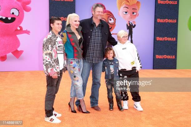 Kingston Rossdale Gwen Stefani Blake Shelton Apollo Bowie Flynn Rossdale and Zuma Nesta Rock Rossdale attend STX Films World Premiere of UglyDolls at...
