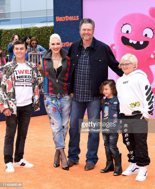 Kingston Rossdale, Gwen Stefani, Blake Shelton, Apollo Bowie Flynn Rossdale, and Zuma Nesta Rock Rossdale attend STX Films World Premiere of...