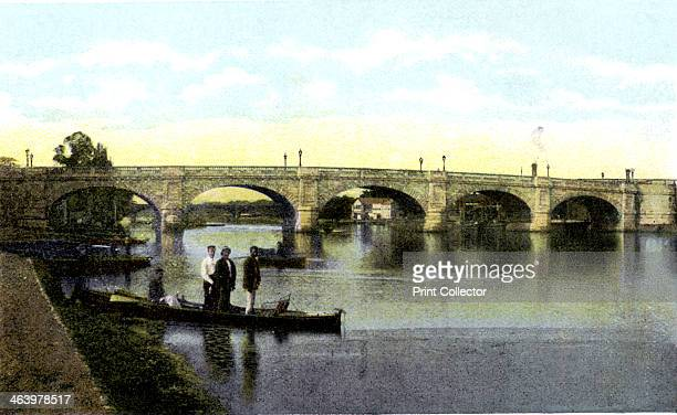 Kingston upon Thames Bridge London 20th Century The first masonry bridge over the Thames at Kingston was built in 1828 Postcard from The Souvenir...