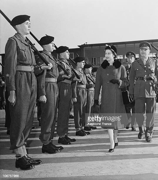 Kingston Upon Thames The Queen Inspecting The School Contingent Of The Combined Cadet Force In March 1961