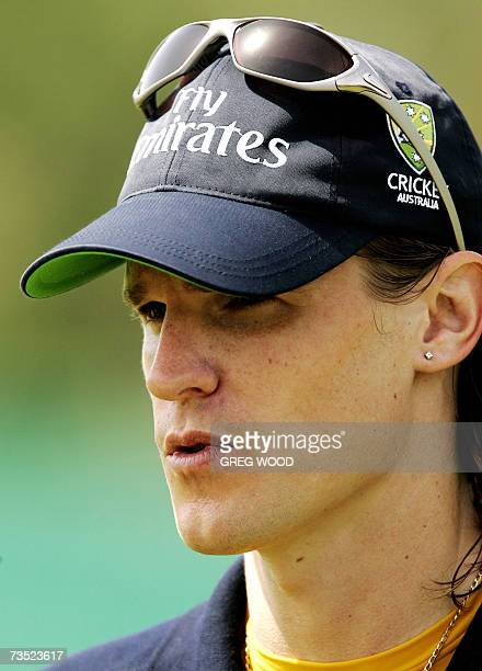 Kingstown SAINT VINCENT AND THE GRENADINES Australian cricketer Nathan Bracken speaks to the media during a training session on the Caribbean island...