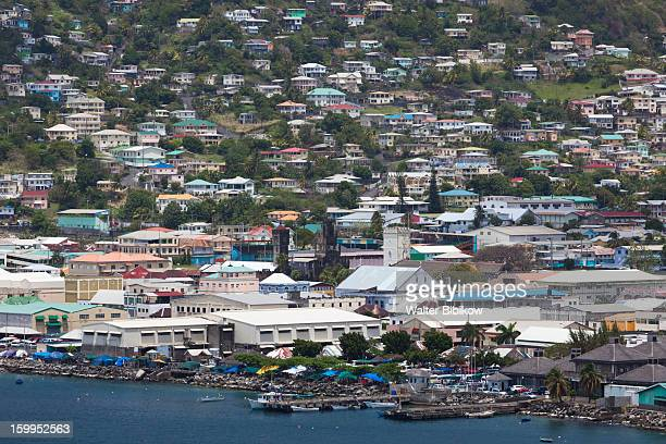 Kingstown, St. Vincent, elevated city view