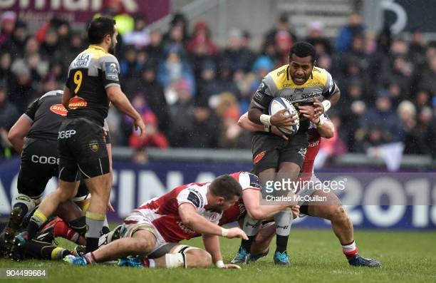 Kini Murimurivalu of La Rochelle during the European Rugby Champions Cup match between Ulster Rugby and La Rochelle at Kingspan Stadium on January 13...