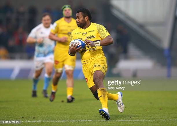 Kini Murimurivalu of La Rochelle during the Heineken Champions Cup Round 2 match between Sale Sharks and La Rochelle at AJ Bell Stadium on November...