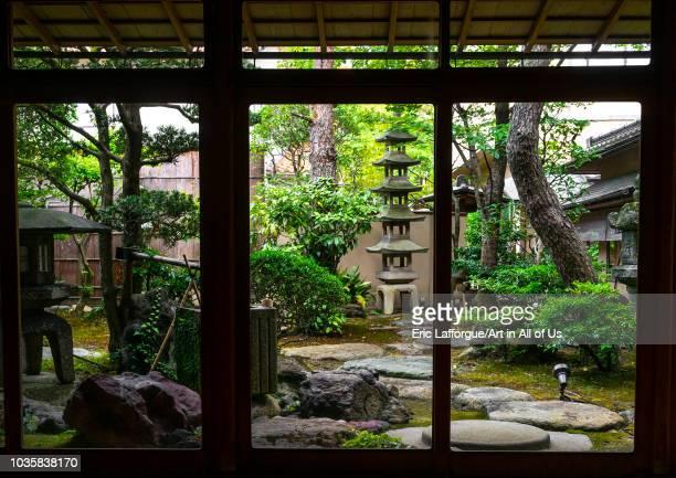 Kinjhoro ryokan japanese garden, Ishikawa Prefecture, Kanazawa, Japan on August 6, 2018 in Kanazawa, Japan.