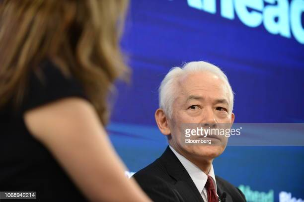 Kinji Kato executive managing director and head of Japan at Natixis SA speaks during the Bloomberg Year Ahead summit in Tokyo Japan on Thursday Dec 6...