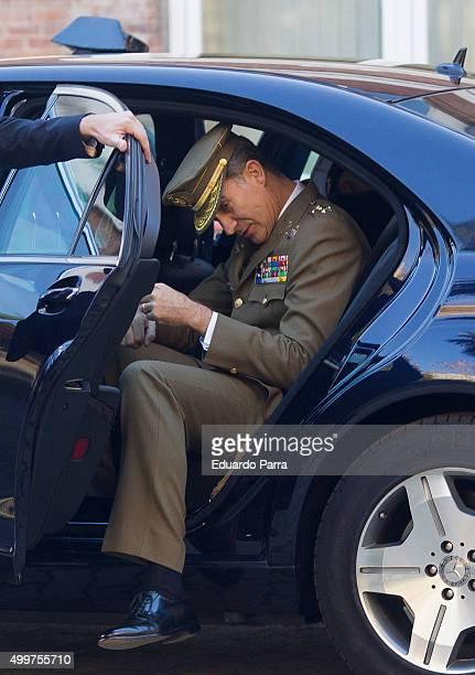 Kinkg Felipe VI visits Orden de San Hermenegildo new hedquarter at San Hermenegildo Chancellery on December 3 2015 in Madrid Spain