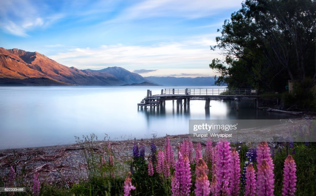 Kinloch, Middle Earth, NZ : Stock Photo