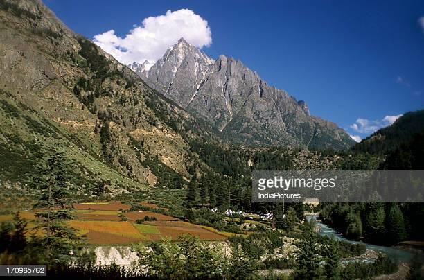 Kinner Kailash range Baspa river Kinnaur Himachal Pradesh India