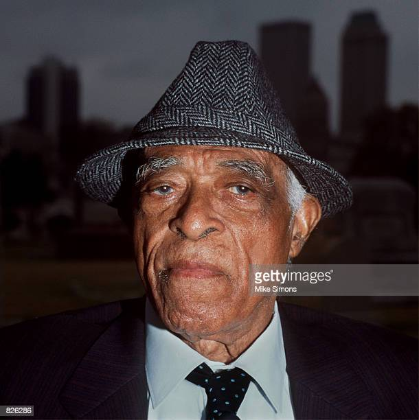 Kinney Booker, a survivor of the 1921 Tulsa Race Massacres, poses for a portrait November 23, 1999 in Tulsa, Oklahoma. As a child, Booker's house was...