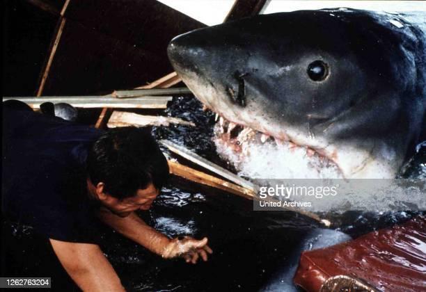 Kino. Der Weisse Hai, Jaws, Der Weisse Hai, Jaws, Brody in Szene, 1974.