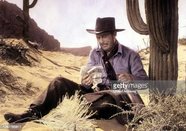 Kino Ein Mann Allein Man Alone A Ein Mann Allein Man Alone A Ray Milland Wes Steele in Szene 1955