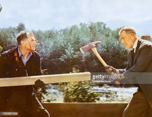 Kino Ein Zug für zwei Halunken USA Regie Robert Aldrich LEE MARVIN ERNEST BORGNINE Stichwort Axt