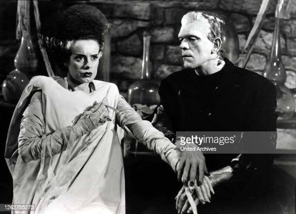 Kino. Frankensteins Braut, Bride Of Frankenstein, Frankensteins Braut, Bride Of Frankenstein, Elsa Lanchester, Boris Karloff Das Monster ist von...