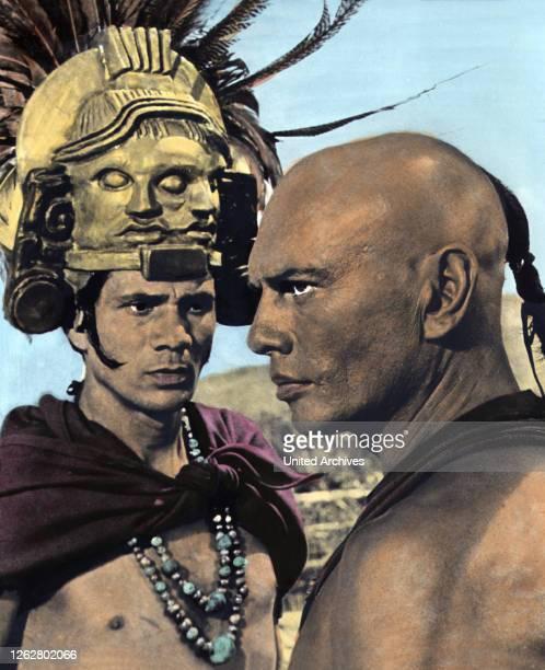 Kino Könige der Sonne USA Regie J Lee Thompson GEORGE CHAKIRIS YUL BRYNNER Stichwort Indianer Glatze Maske
