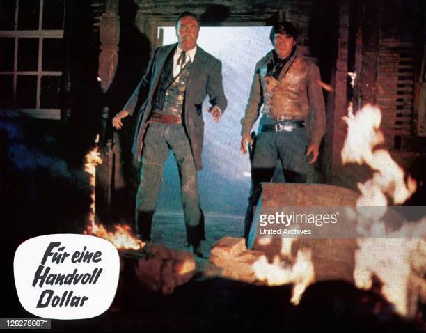 Kino. Per un pugno di dollari, Italien/Spanien/Deutschland aka: Für eine Handvoll Dollar, Regie: Sergio Leone, Darsteller: Wolfgang Lukschy.